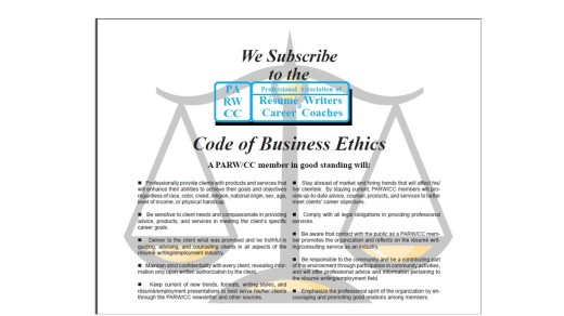 PARW Business Ethics